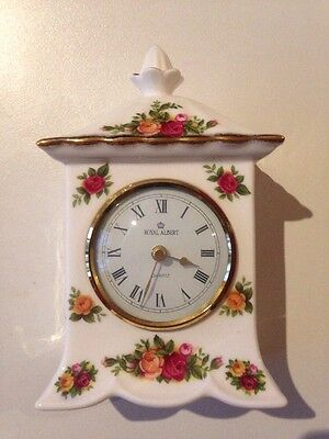 Royal Albert Old Country Roses Mantle Clock