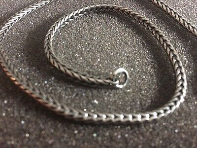 Trollbeads Sterling 925 Silver Foxtail Necklace Chain 36cm New Ex Shop Stock