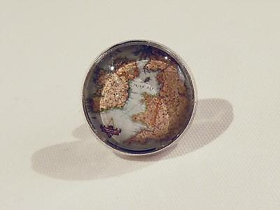 Tie Tack With Glass Dome - Map Of Uk & Ireland - Gift Bag - Free Uk P&p....w0585