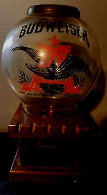 VINTAGE Budweiser Beer Peanut/Candy Gumball Dispenser COLLECTIBLE