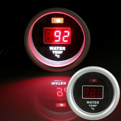 "Car 2"" 52mm Digital Red LED Electronic Water Temp Temperature Gauge & Sensor"