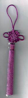 Feng Shui Purple Mystic Knot with Tassel for Royalty Wealth & High Spirituality