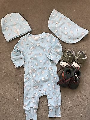 Brand New! Sheridan Baby Boy Clothes Bundle With Pre Walker Shoes Size 0-3M