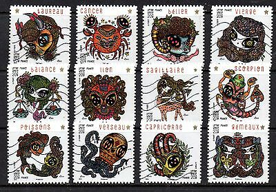 France 2014 - Signs Of The Zodiac  - Full Set Of 12