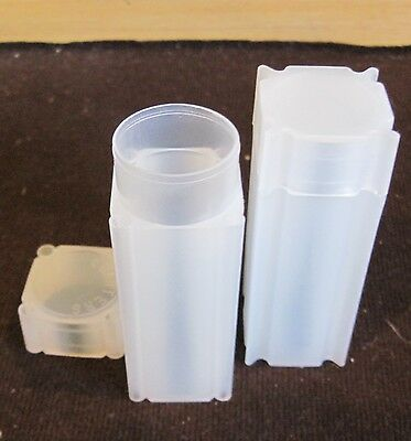 FIVE (5) Square Coin Storage Tubes - Quarter (each tube holds 40 coins)