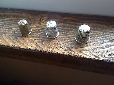 Vintage 3 MIxed Lot  / Metal Thimbles Prudential/England /#10