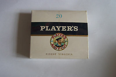 Players Navy Cut Vintage Cigarette  20 Complete Sealed First Health Warning Pack