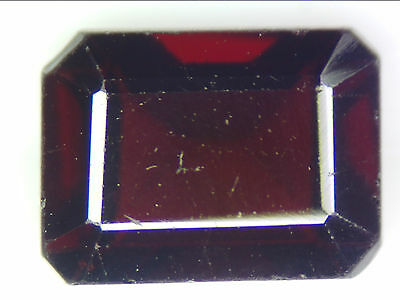 2.00Ct Natural Dark Red Pyrope Garnet Loose Gemstone Rectangle Emerald Cut 5 X 7