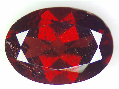 2.61 Ct Natural Red Pyrope Garnet Loose Gemstones Oval Faceted Cut 9.8 X 7.0 Mm