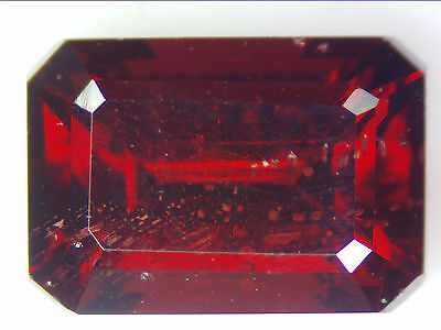 3.88 Ct Natural Red Pyrope Garnet Loose Gemstones Rectangle Emerald Cut 10.0X6.9