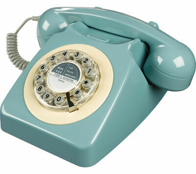 WILD & WOLF 746 Corded Phone - French Blue - Retro design