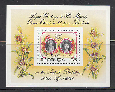 Barbuda 1986 Queen's Birthday MS Sc 782 complete mint never hinged