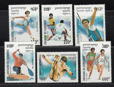 Cambodia 1994 Summer Olympics Sc 1346-1351 complete mint never hinged