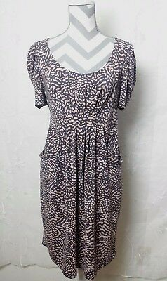 Oh Baby By Motherhood Maternity Dress With Pockets Stretch Animal Print Size Med