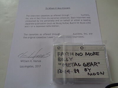 Faith No More Original 1989 Japan Media Interview Cassettes.. Full And Uncut