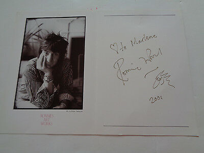 Rolling Stones Ronnie Wood Autograph 2001 Artwork Card ...very Nice