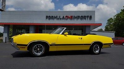 1970 Oldsmobile 442  1970 OLDS 442 W-30*CONVERTIBLE*V8*AUTO*LOW MILES*YELLOW/BLACK*COLLECTOR CAR