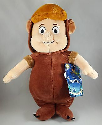 """Peter Pan Lost Boys Cubby Disney Plush 13"""" Tall with hang and tush TAG"""