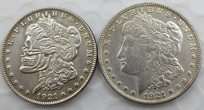 1921 Hobo Morgan Dollar On One Side And Original On The Other