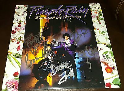 THE REVOLUTION signed auto PURPLE RAIN Vinyl Movie Soundtrack LP PRINCE Proof x5