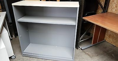 Grey Wooden Bookcase With 2 Shelves