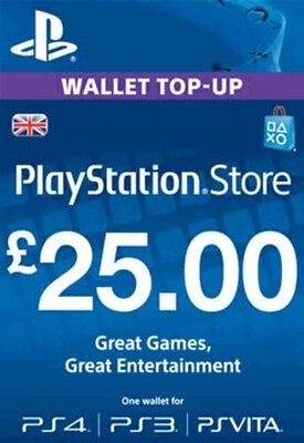 Playstation Network Card £25 (In Paperform) (PS3 / VITA / PS4) - PS4