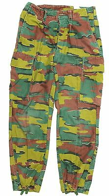 "(No4) BELGIAN ARMY COMBAT TROUSERS in M90 JIGSAW CAMO M/S 32"" WAIST"