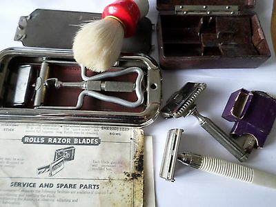 Vintage Rolls Razor Ever-Ready razor in Bakelite box brush & Gillette razor