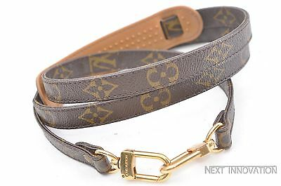 Authentic Louis Vuitton Monogram Leather Brown Shoulder Strap LV 35877