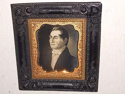 Painting of Man  1/6 Plate  Daguerreotype - Thermoplastic Hanging Frame