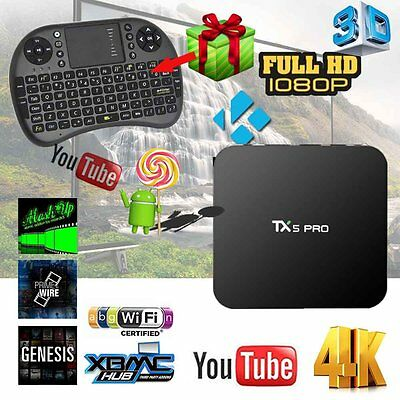 TX5 PRO Smart android TV BOX Android 6.0 S905X 2G/16G 4K Media player + Keyboard