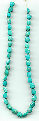 "FACETED HUBEI TURQUOISE NUGGET BEADS - 818A - 15.75"" Strand"