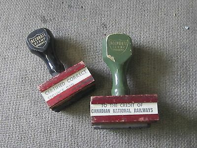 CIRCA 1930s CNR CANADIAN NATIONAL RAILWAYS ACCURATE INK STAMP STAMPER DESK TOOL