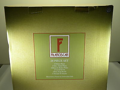 Franciscan Desert Rose 28 Piece Dinner Set NEW IN BOX