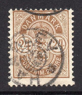 Denmark 24 Ore Stamp c1882 Used