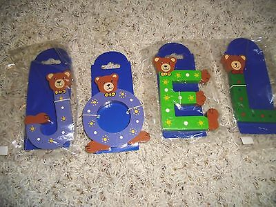 New Personalized Name Joel Teddy Bear Letters Wall Decor Nursery Baby Sign