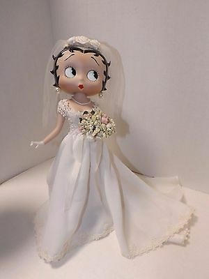Betty Boop Franklin Mint porcelain Bride Doll Syd Hap ~RARE~