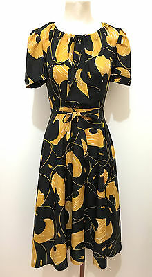 CULT VINTAGE '70 Abito Vestito Donna Jersey Flower Woman Dress Sz.S - 42