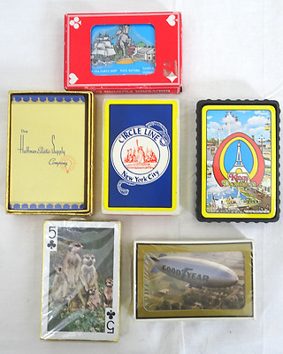 Vintage Lot Of 6 Sealed Decks Of Playing Cards