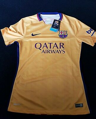 barcelona player issue away shirt 2015-2016 medium authentic