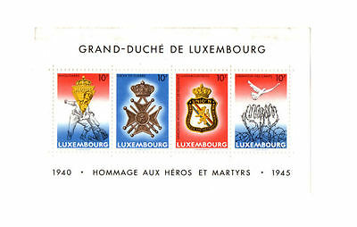 1985 Luxembourg Stamps  Souvenir Sheet  MNH  Slight Smudge