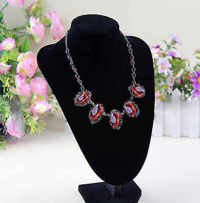 Novelty Fad  Velvet Display Bust Stand for Necklace Earring Jewelry UK67