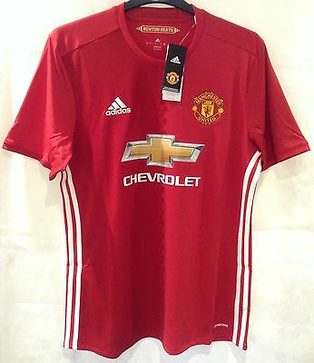 BNWT Manchester United 2016-2017 Home Shirt Size L Brand New Adidas Jersey