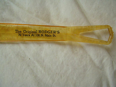 Rodgers Bros shoe store Bloomington IL shoe horn zipper pull hem measure
