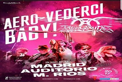 Dos entradas grada general aerosmith 29 de junio madrid