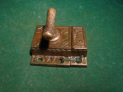 VINTAGE EASTLAKE CABINET 'T'  LATCH w/MATCHING KEEPER - RHC? (8760-B)