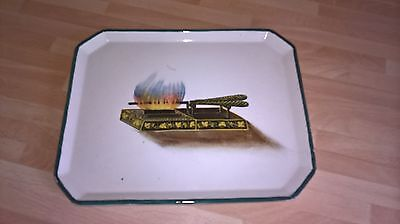 Rare Wemyss Ware Scottish Pottery Curling Tongs Design Comb Tray T.goode Mark