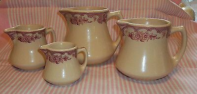 Wellesville China MAJESTIC San Tan Restaurantware Four Creamers Pitchers