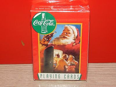 Coca Cola Playing Cards KIDS IN FRIDGE AND SANTA!  BRAND NEW! SEALED!