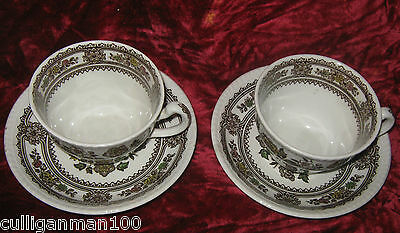 1 - Lot of 2 - Woods and Son Dorset Tea cups and Saucers (2017-069)